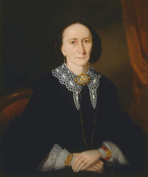 An image of Portrait of a woman (Elizabeth Collins) by Joseph Backler