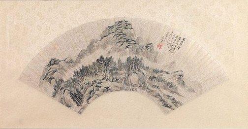 An image of Fantastic peaks among ten thousands trees by Qin Bingwen