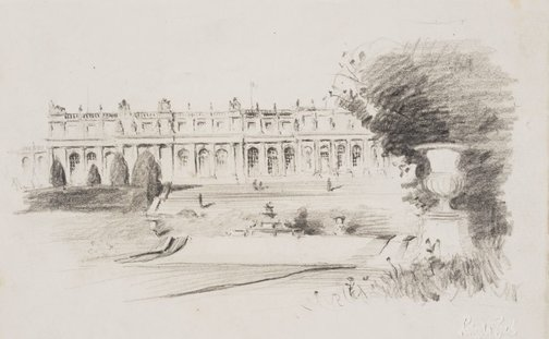 An image of Palace of Versailles, the garden front by Lloyd Rees