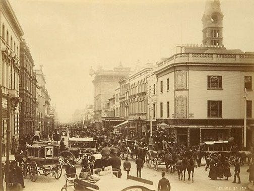 An image of George Street, 1 pm by Charles Bayliss