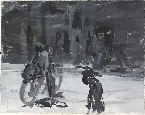 An image of Bike rider, Bagdad 2 by Kevin Connor