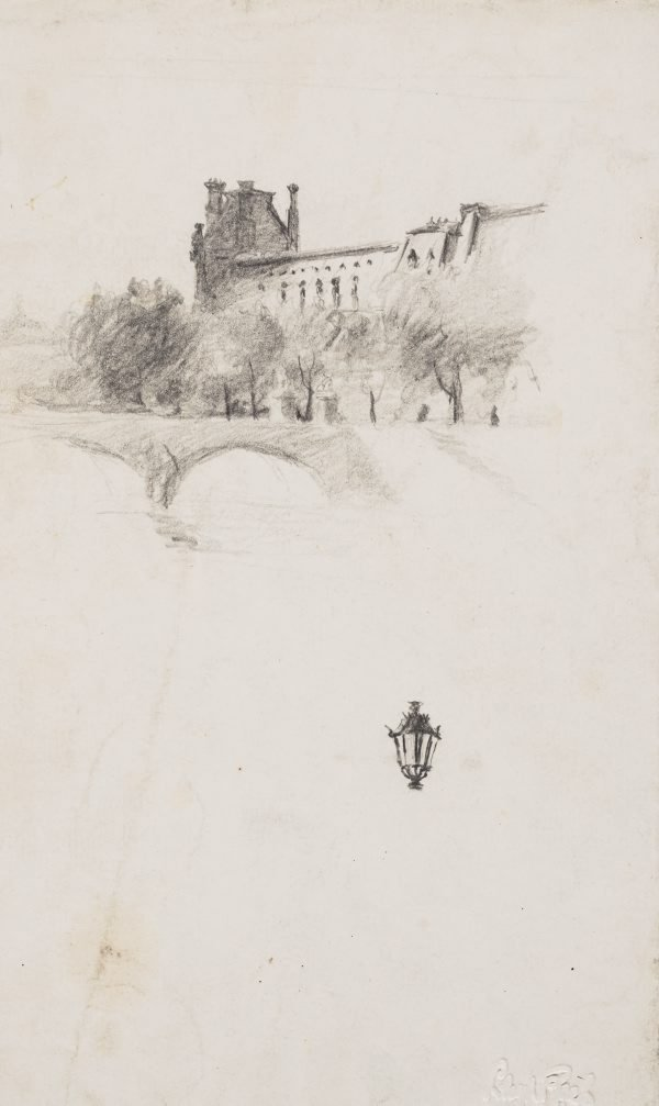 An image of Pavillon de Flore and the Pont Royal, Paris