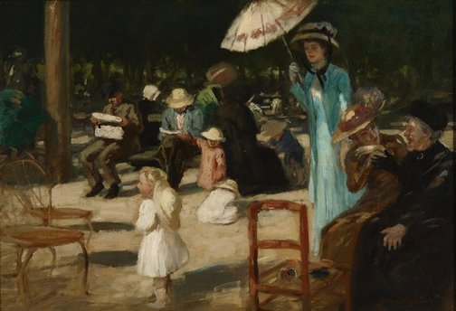 An image of In the Luxembourg gardens by Rupert Bunny