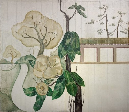 An image of (Magnolias and path) by Roy de Maistre