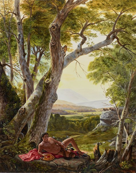 An image of The allegory of painting by Kent Monkman