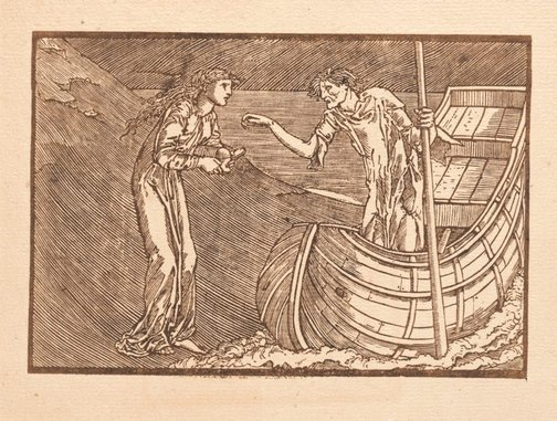 An image of Charon's Fee (for The Earthly Paradise) by attrib. William Morris, after Sir Edward Coley Burne-Jones