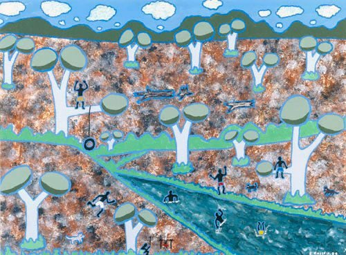 An image of Lachlan River, our childhood dreams by Elaine Russell