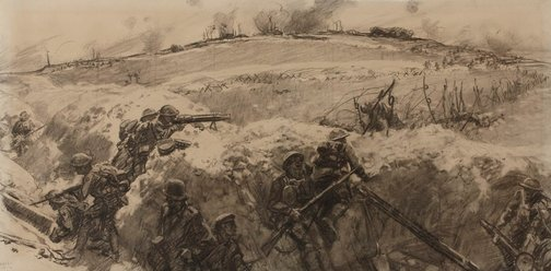 An image of Battle of Mont St. Quentin by Fred Leist