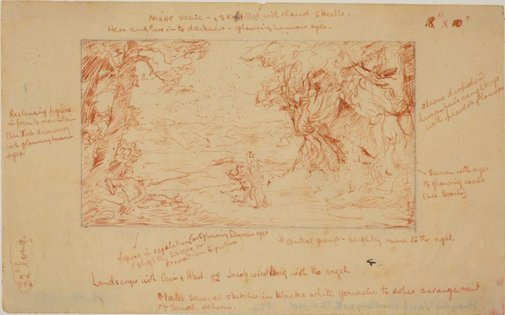 An image of Study for 'Jacob wrestling with the angel' by James Gleeson