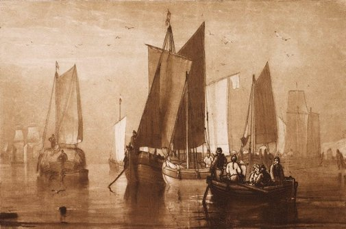 An image of Calm by Joseph Mallord William Turner