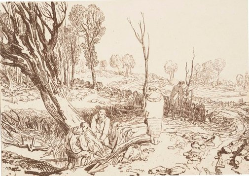 An image of Hedging and Ditching by Joseph Mallord William Turner