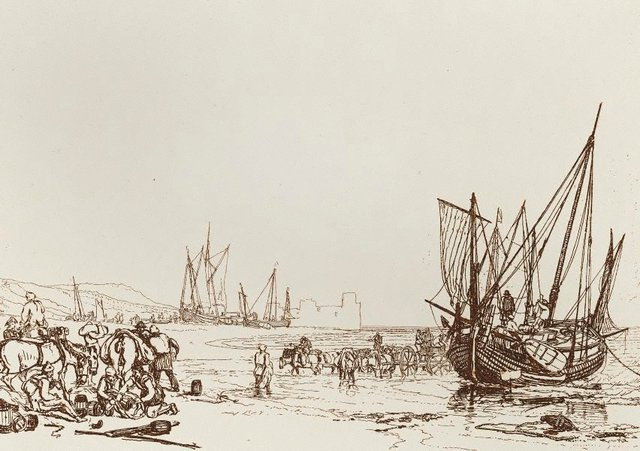 An image of Scene on the French coast