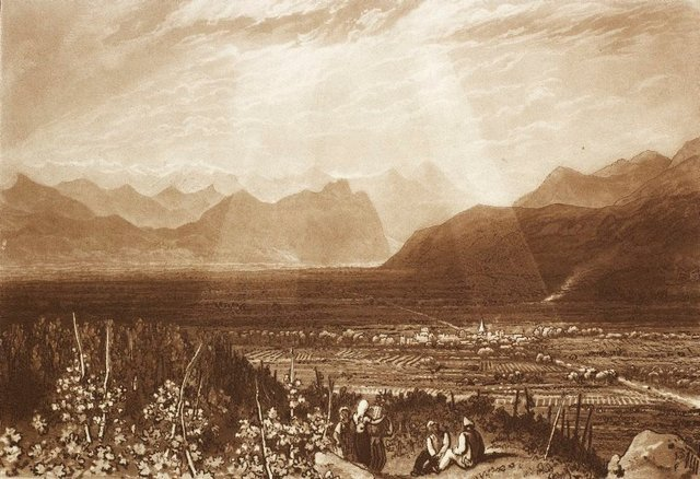 An image of Chain of Alps from Grenoble to Chamberi
