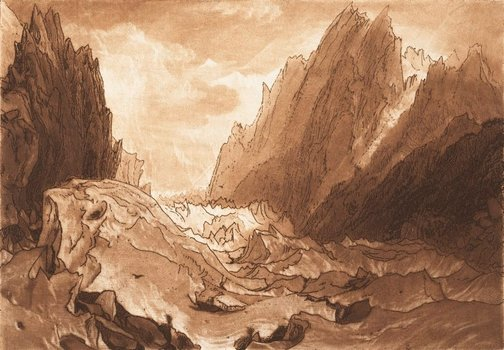 An image of Mer de Glace by Joseph Mallord William Turner