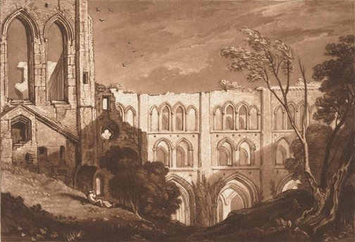 An image of Rivaux Abbey by Joseph Mallord William Turner