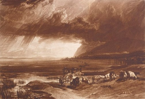 An image of Solway Moss by Joseph Mallord William Turner