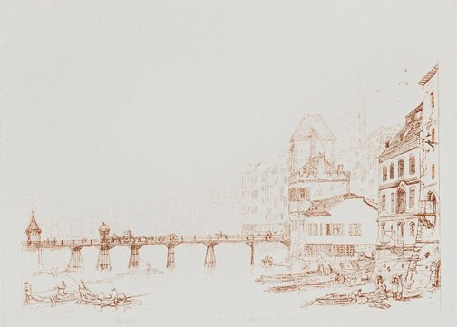 An image of Basle by Joseph Mallord William Turner