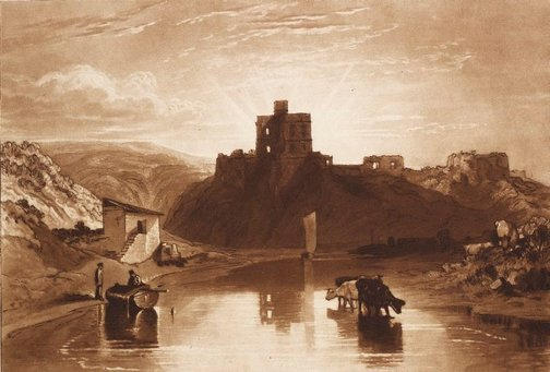 An image of Norham Castle by Joseph Mallord William Turner