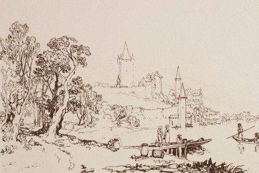 An image of Ville de Thun by Joseph Mallord William Turner