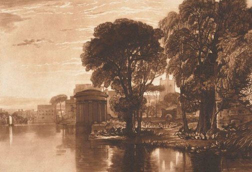 An image of Isleworth by Joseph Mallord William Turner