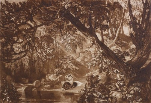 An image of Aesacus and Hesperie by Joseph Mallord William Turner