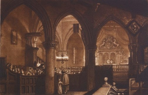 An image of Interior of a Church by Joseph Mallord William Turner