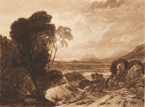 An image of Dumbarton Rock by Joseph Mallord William Turner
