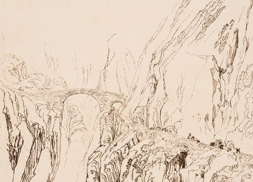An image of Via Mala by Joseph Mallord William Turner