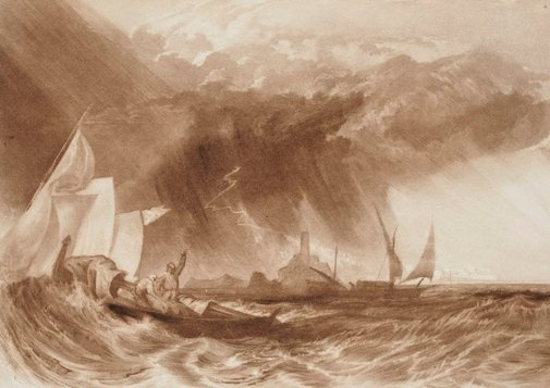 An image of The Felucca by Joseph Mallord William Turner