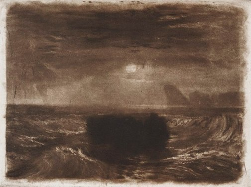 An image of Moonlight at Sea by Joseph Mallord William Turner