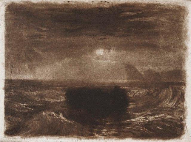 An image of Moonlight at Sea