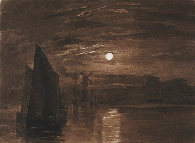 An image of Moonlight on the Medway