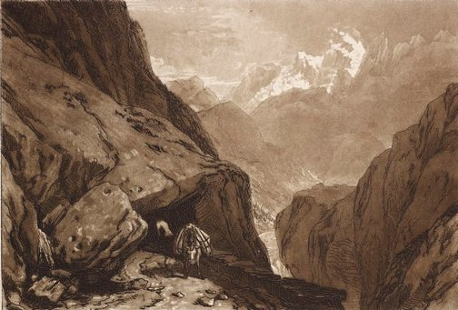 An image of Mt. St. Gothard by Joseph Mallord William Turner