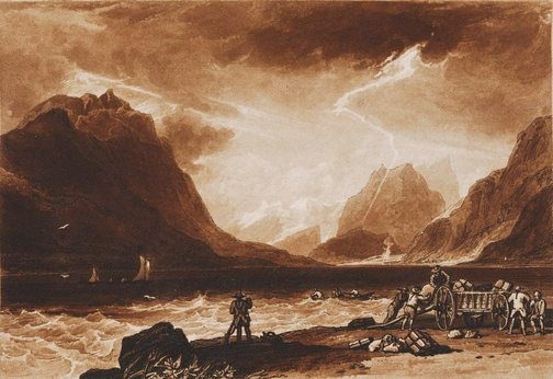 An image of Lake of Thun by Joseph Mallord William Turner