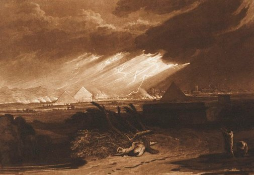 An image of The fifth plague of Egypt by Joseph Mallord William Turner