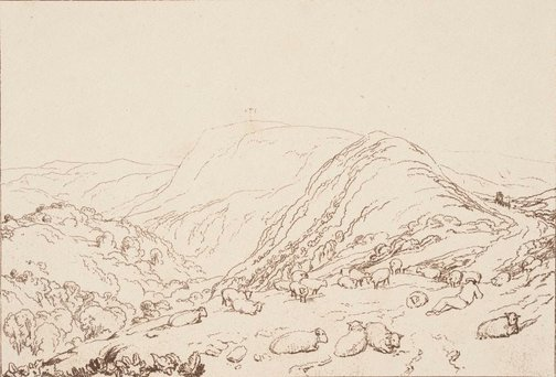 An image of Hind Head Hill by Joseph Mallord William Turner