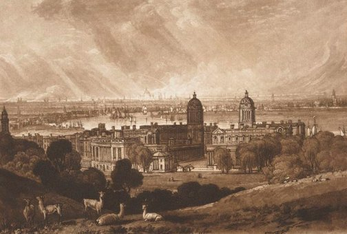 An image of London from Greenwich by Joseph Mallord William Turner