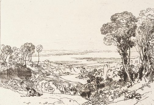 An image of Junction of Severn and Wye by Joseph Mallord William Turner
