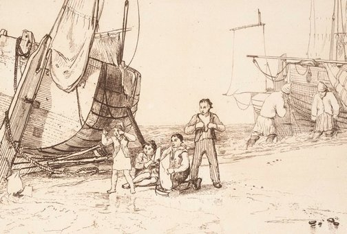 An image of Marine dabblers by Joseph Mallord William Turner