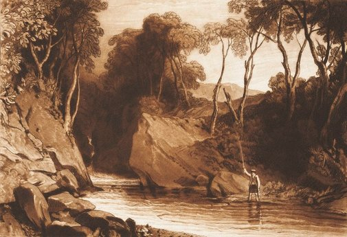 An image of Near Blair Athol by Joseph Mallord William Turner