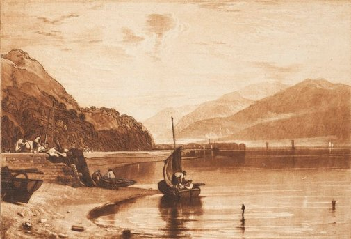 An image of Inverary Pier. Loch Fyne. Morning by Joseph Mallord William Turner