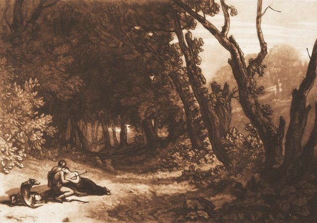 An image of Procris and Cephalus