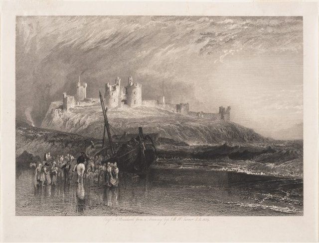 An image of Dunstanborough Castle, Northumberland