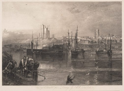 An image of Orford, Suffolk by Robert Brandard, after Joseph Mallord William Turner