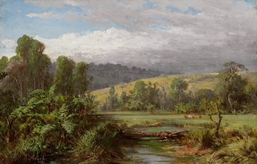 An image of At Dandenong by Louis Buvelot