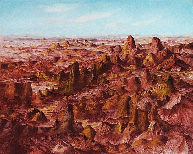 Central Australia, (1950) by Sidney Nolan