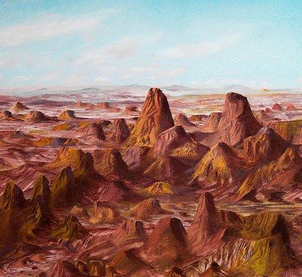 Alternate image of Central Australia by Sidney Nolan