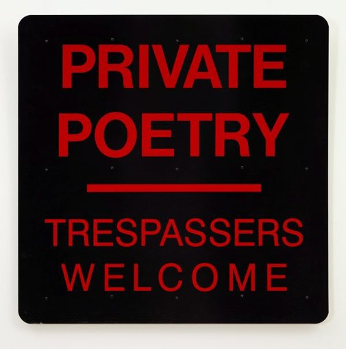 An image of Private poetry by Richard Tipping