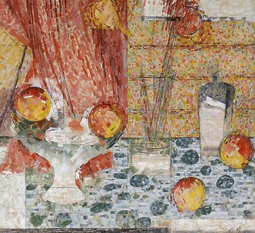 An image of Still life by Godfrey Miller