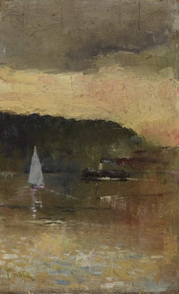 An image of Sunset, Sydney Harbour by Charles Conder